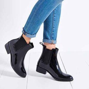 Jeffrey Campbell Stormy Chelsea Shiny Rain Boots 7